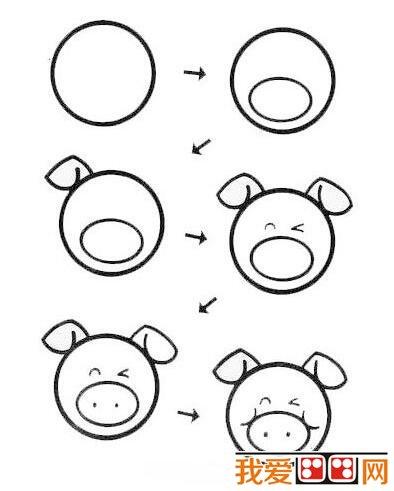 幼儿简笔画:小猪