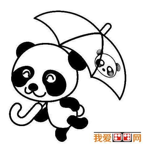 小熊猫简笔画图片