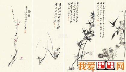 国画大师张大千讲解国画梅花 荷花 竹的绘画技巧图片