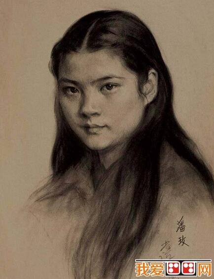 靳尚谊人物头像素描作品欣赏(4)