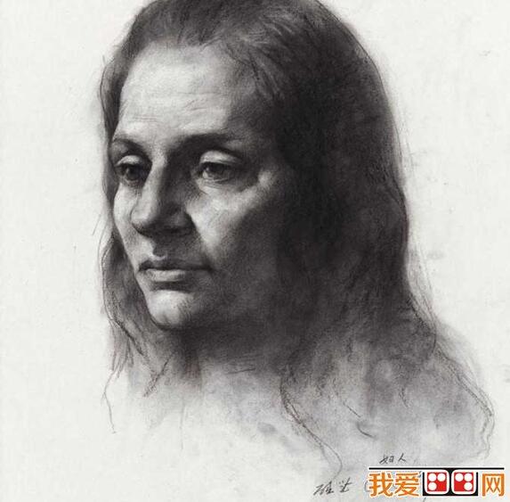 区础坚优秀人物头像素描作品赏析(3)