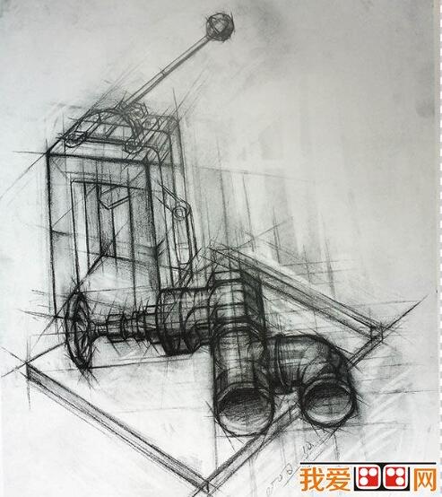 中国美术学院优秀静物素描作品欣赏(2)