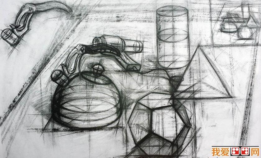 国美术学院优秀静物素描作品欣赏 5