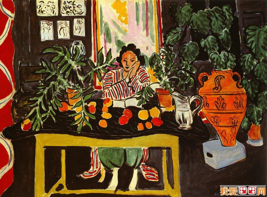 野兽派创始人亨利·马蒂斯人物油画作品欣赏(2)图片