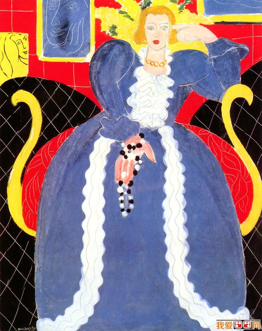 野兽派创始人亨利·马蒂斯人物油画作品欣赏(3)图片