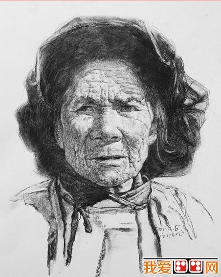 炭笔画 炭笔素描人物头像的技巧