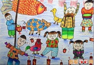 儿童画过年:过新年儿童画图片欣赏