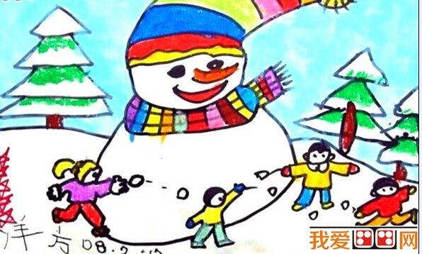 儿童画过年 过新年儿童画图片欣赏