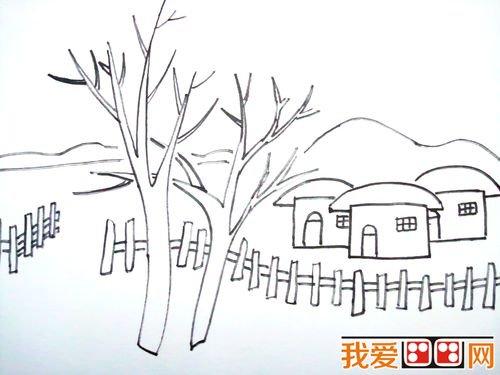 儿童风景画速写的基本表现技法图片