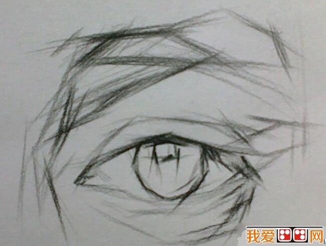 眼睛结构素描步骤详解图片