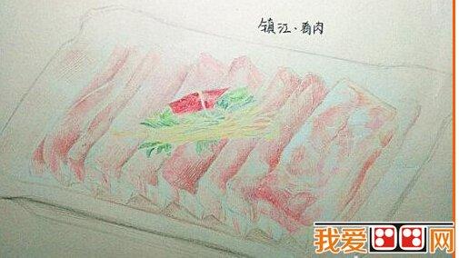 扬州大学萌妹子手绘江苏美食