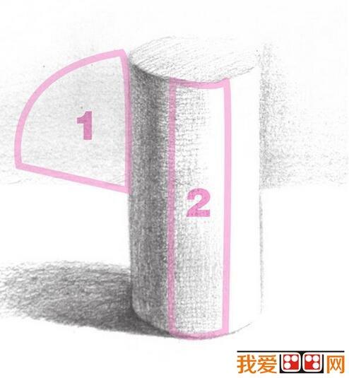 几何圆柱体素描素描教程详解图片