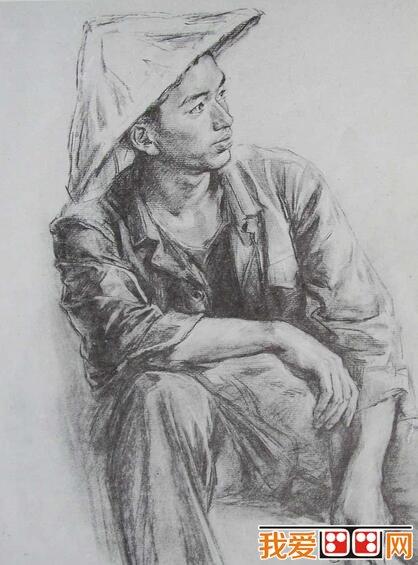 八十年代人物人体素描作品欣赏(3)
