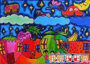 城市房子绘画图片