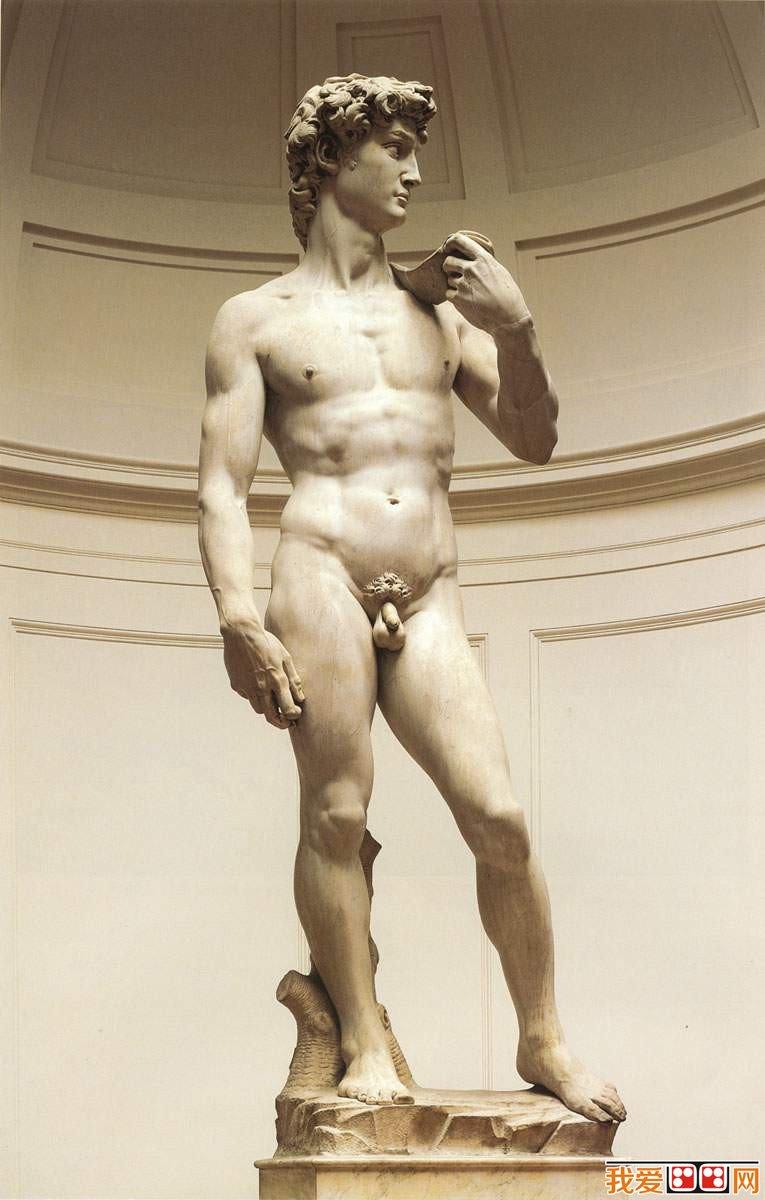 罗创作一件巨大的大卫雕像