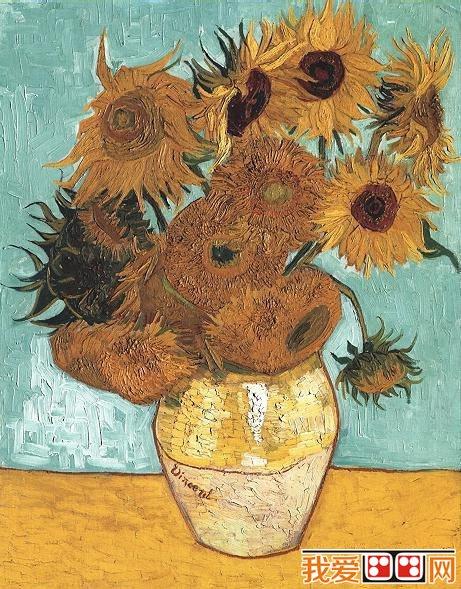 梵高著名油画《十四朵向日葵》-潦倒的人生,辉煌的艺术 梵高著名油