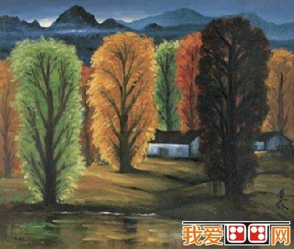绘画大师林风眠乡村风景画作品欣赏(3)