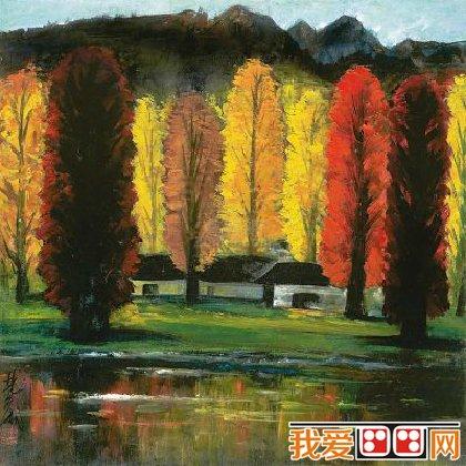 绘画大师林风眠乡村风景画作品欣赏