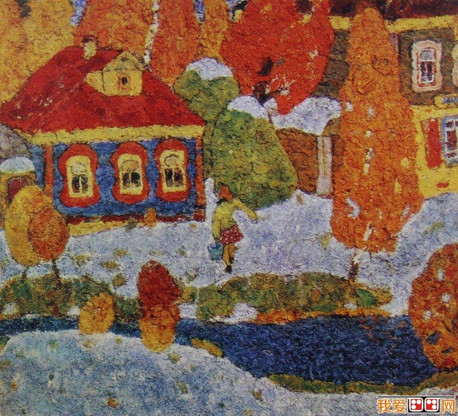 8张色彩搭配较好的幼儿水彩风景画_儿童画教程_学画画