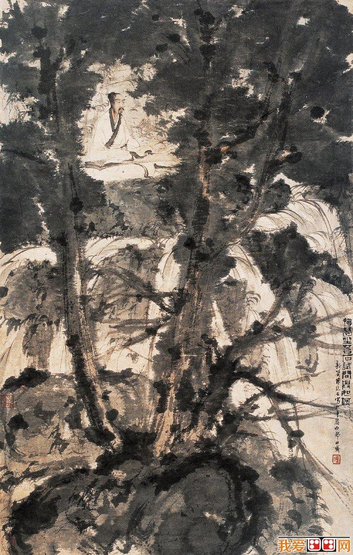 中国现代画家傅抱石山水画作品欣赏(5)