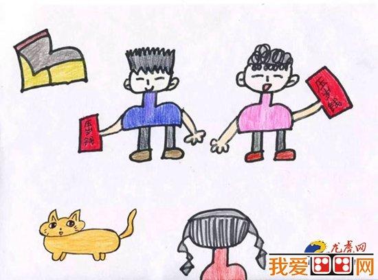 儿童过年手绘海报