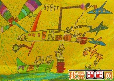 儿童画优秀作品《多功能战斗飞机》 金雅轩-获奖儿童画优秀作品欣赏