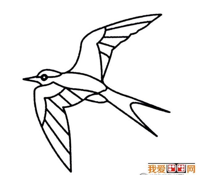 小燕子简笔画作品欣赏_儿童画教程_学画画_我爱画画网