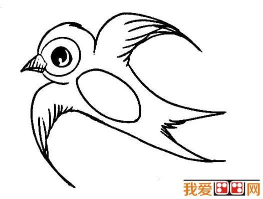 小燕子简笔画作品欣赏      燕子最愿意接近人类,人类最爱护这种益鸟.