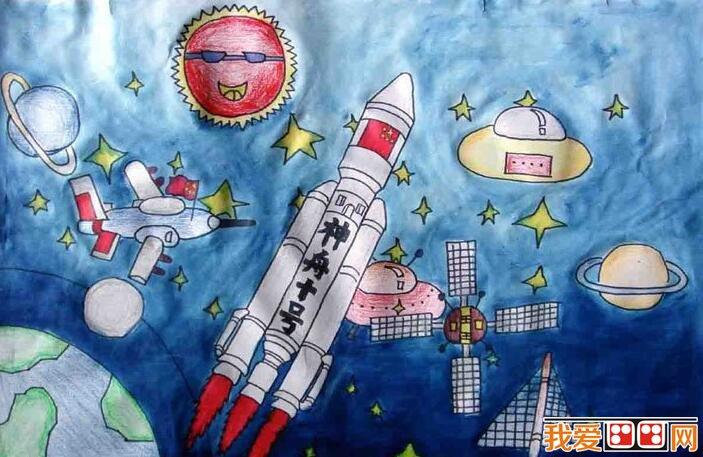,体现儿童对科学发展的畅想和展望,树立起热爱科学,热爱中华民族的思想。  儿童航空科幻画:我的航空梦 同时对培养少年儿童的科学想象力、创新意识和探究性学习的能力,具有十分重要的意义。  我的航空梦儿童科幻画作品欣赏 要画好科幻画,其中并不难。平时注意多读一些科学幻想方面的书籍,多参加科学讲座和科技创新活动,把科幻画和发明创造,科学论文、工艺设计等科技结合起来。  我的航空梦儿童科幻画作品欣赏 还要注意观察和收集身边的新事物、新信息,对天文、地质、海洋、环境、生物工程、信息工程、纳米技术、遗传工程都可以有一