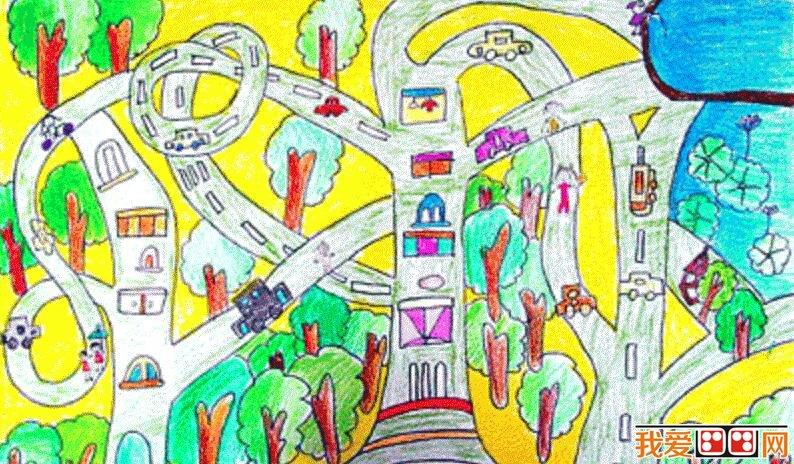 什邡市儿童科幻画比赛优秀作品欣赏(5)图片