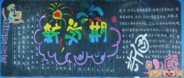 2013年迎春节黑板报,关于春节的黑板报设计图片 6