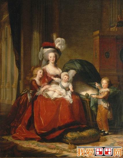 法国女画家伊莉莎白·维杰·勒布伦人物肖像画欣赏