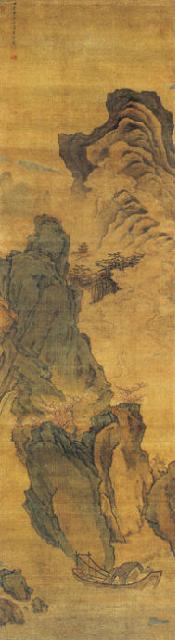 叶欣山水画:春游图