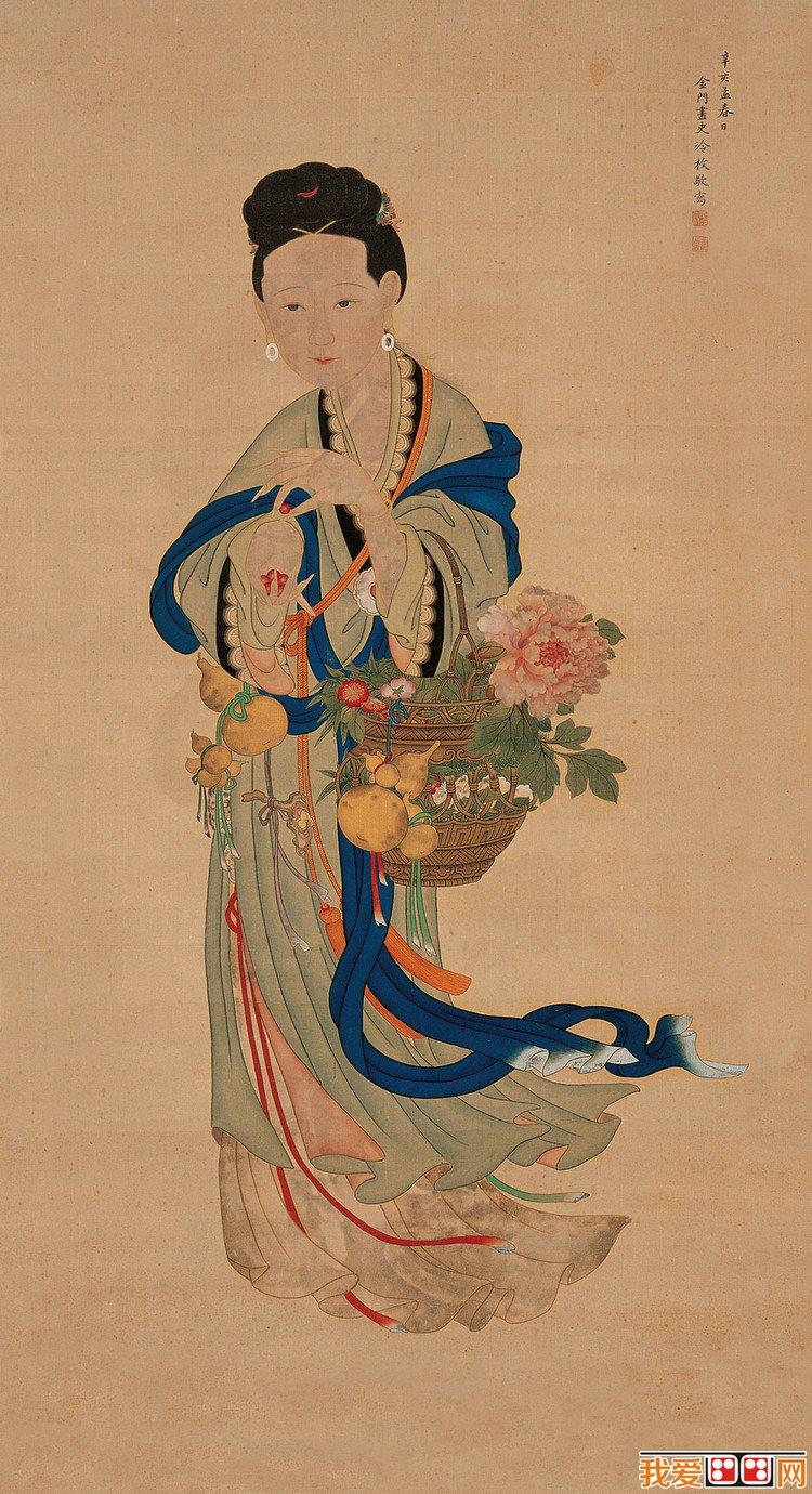 清代宫廷画家冷枚宫廷画欣赏(5)
