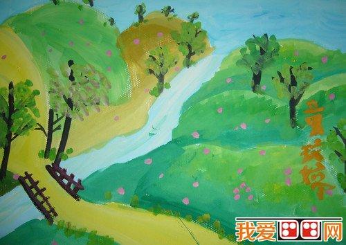 春天儿童水粉画优秀作品(2)