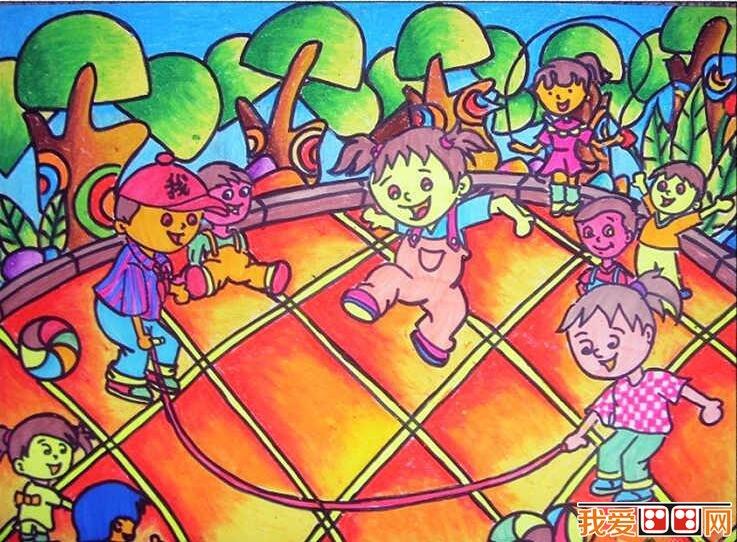 课余生活儿童画作品欣赏