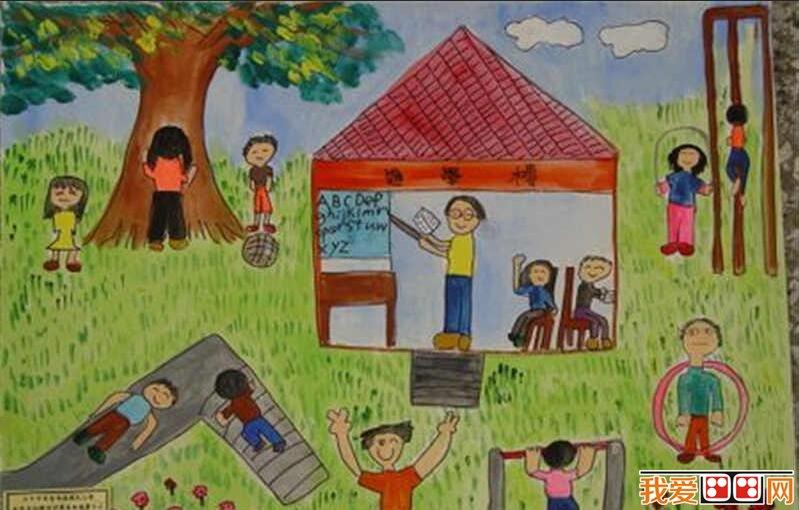 儿童画欣赏 > 课余生活儿童画作品欣赏      课余生活是学生校园生活图片