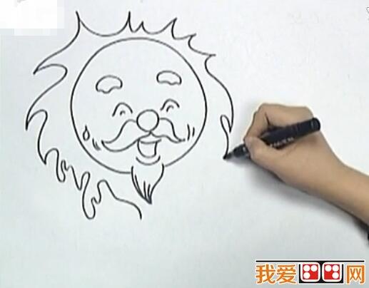 《太阳公公和月亮宝宝》儿童画教程详解_学画画_我爱