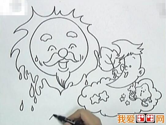 公和月亮宝宝 儿童画教程详解