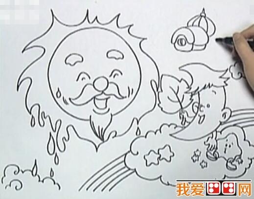 儿童蝴蝶扇子图片简笔画