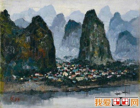 中国现代画家吴冠中风景油画作品欣赏(5)
