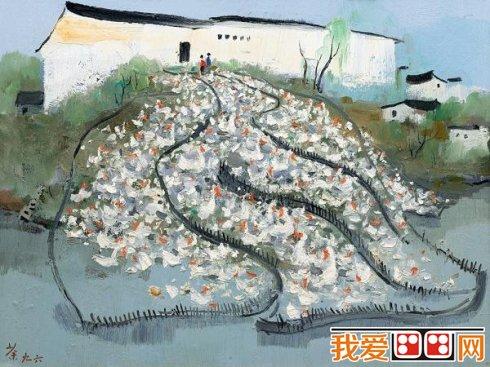 中国现代画家吴冠中风景油画作品欣赏(6)