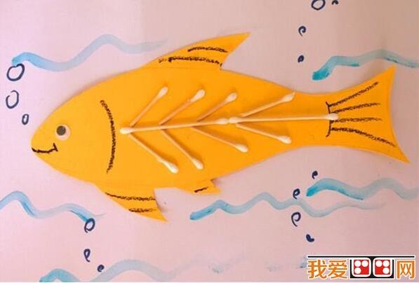 奇妙的小鱼挂画手工diy作品图解