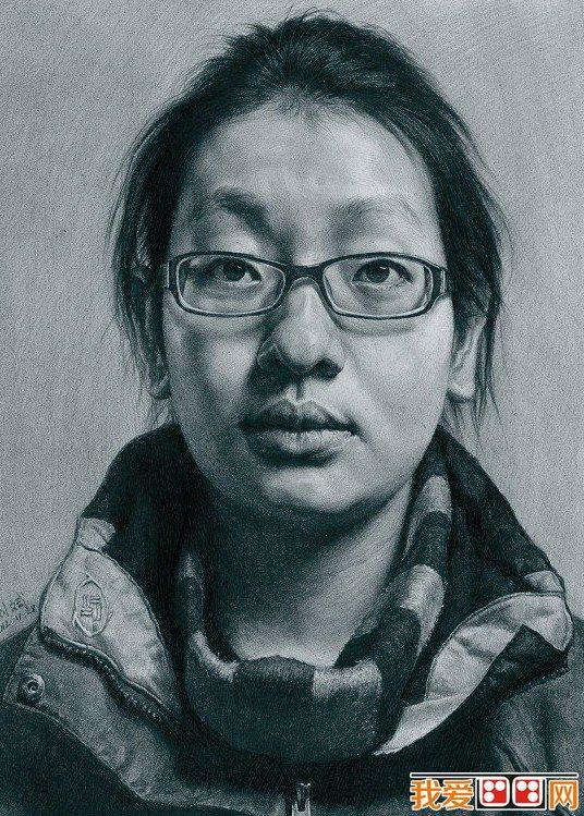 中央美院教师刘斌优秀人物头像素描作品