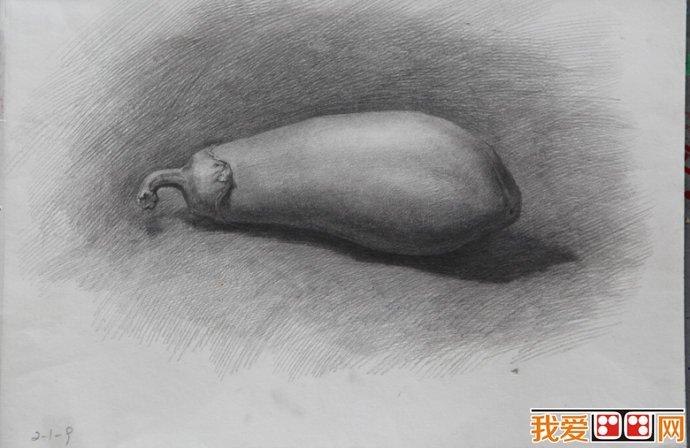 优秀水果蔬菜素描作品赏析图片