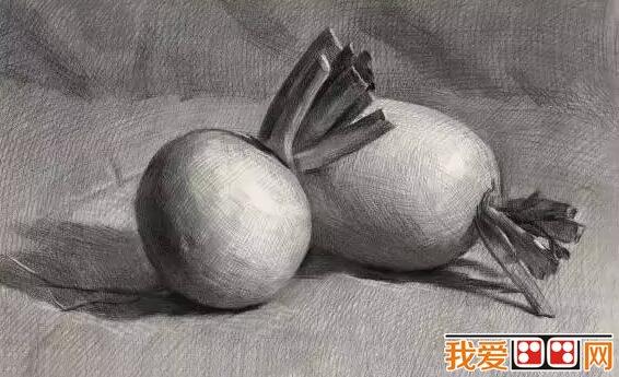 水果静物素描作品赏析-优秀水果蔬菜素描作品赏析