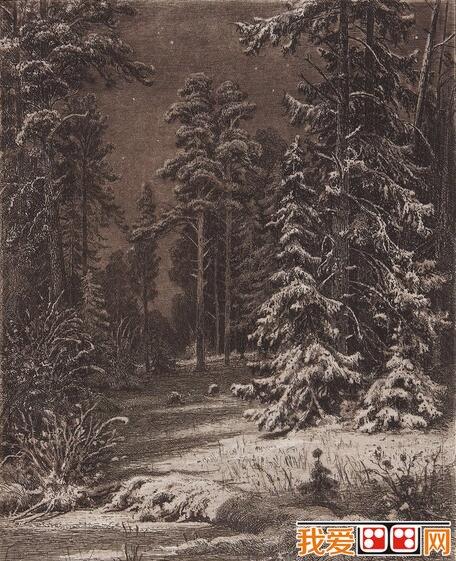 俄国画家俄国画家钢笔素描风景画作品欣赏(3)