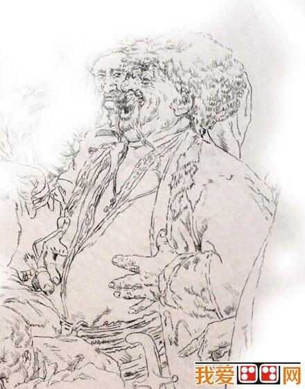 徐亚华钢笔人物肖像素描教程详解_素描教程_学画画_我