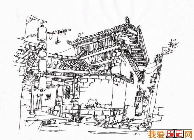 房屋效果图手绘