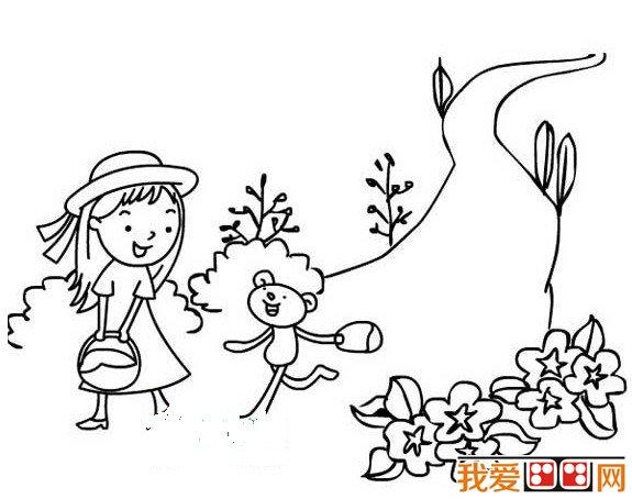 儿童简笔画春天的景色
